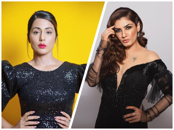 Hina Khan And Raveena Tandon Wore Black Gowns Recently But They Missed The Mark