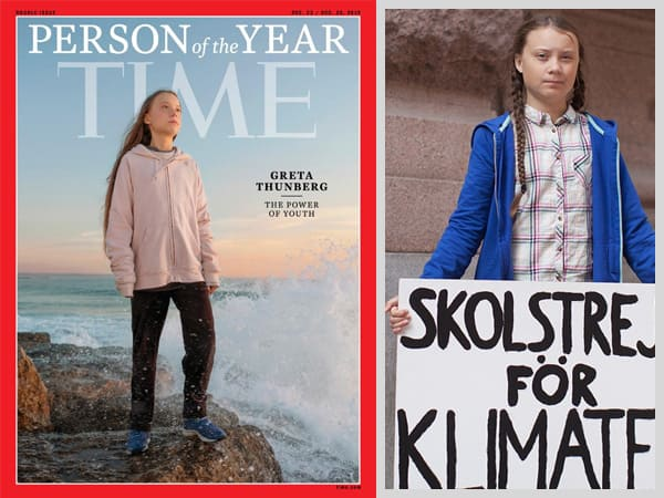 Netizens Applaud As Climate Activist Greta Thunberg Becomes Youngest Time Person Of The Year