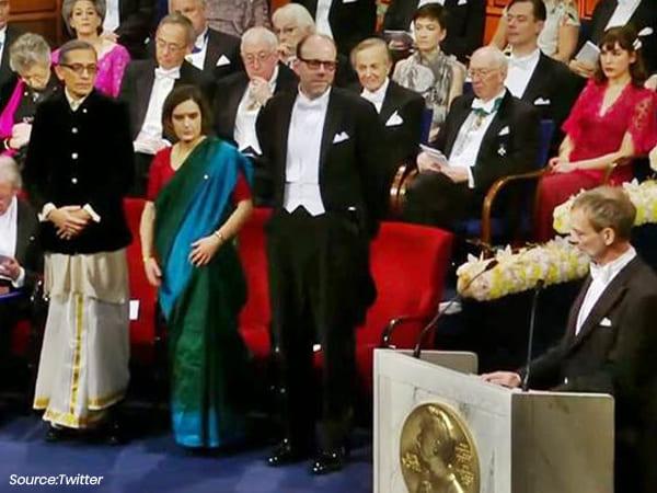 Sticking To His Bengali Roots, Abhijit Banerjee Dons Dhoti While Receiving Nobel Prize 2019