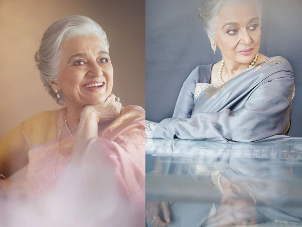 Asha Parekh Exudes Regal Vibes With Her Resplendent Silk Saris