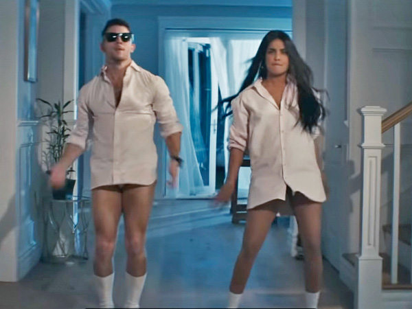 Priyanka Chopra Jonas And Nick Jonas Win Us With Their White Shirt Look In What A Man Gotta Do