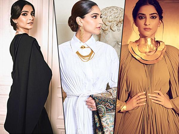Sonam Kapoor's Paris Fashion Week Closet Is Impressive And We Are Crushing On Her Sari Tuxedo Look