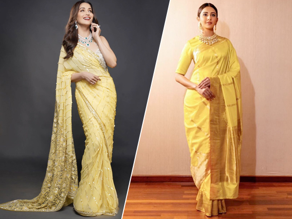 Makar Sankranti 2020: Madhuri Dixit Nene And Other Divas Have Yellow Sari Goals