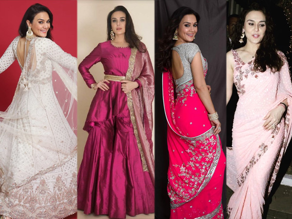 Preity Zinta Traditional Looks