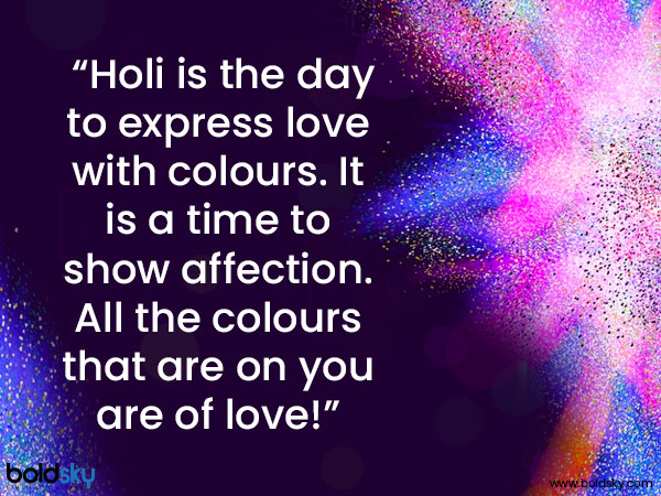 Holi Wishes, Quotes, Messages And Images