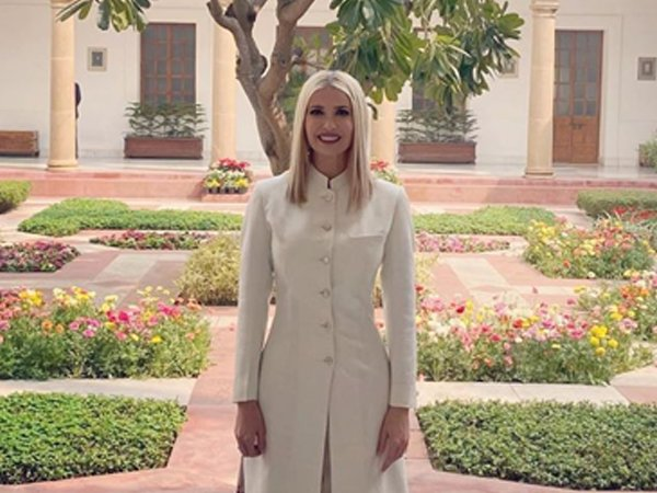 Ivanka Trump Makes Powerful Statement In An All-White Ensemble And It's Perfect For Formal Meetings