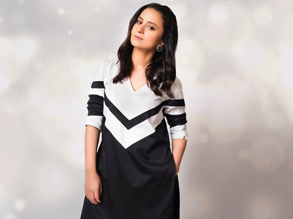 Rasika Dugal in a black & white kurta set