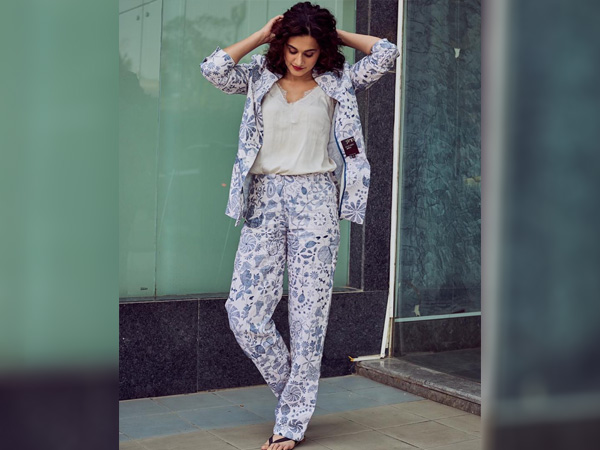 International Womens Day-Taapsee Pannu In A Floral Pantsuit