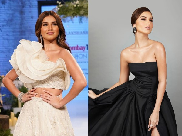 Tara Sutaria In A White Ethnic Ensemble And Black Gown At Different Events - Boldsky.com