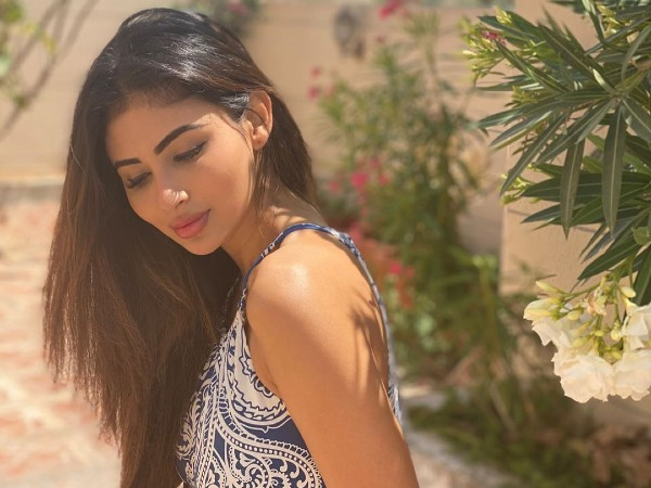 Mouni Roy Gives Spring Fashion Goals In Printed Dress As She Passes Her Quarantine Time On Terrace