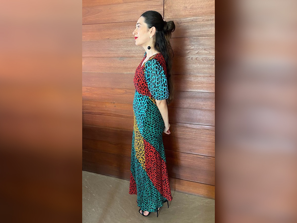 Karisma Kapoor In A Colourful Dress