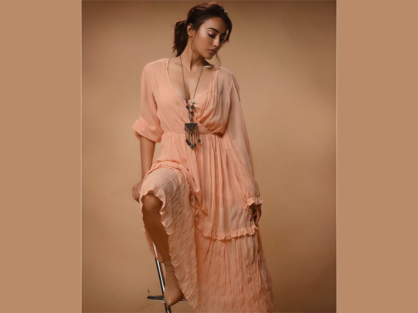 Surbhi Jyoti In A Peach Flared Dress