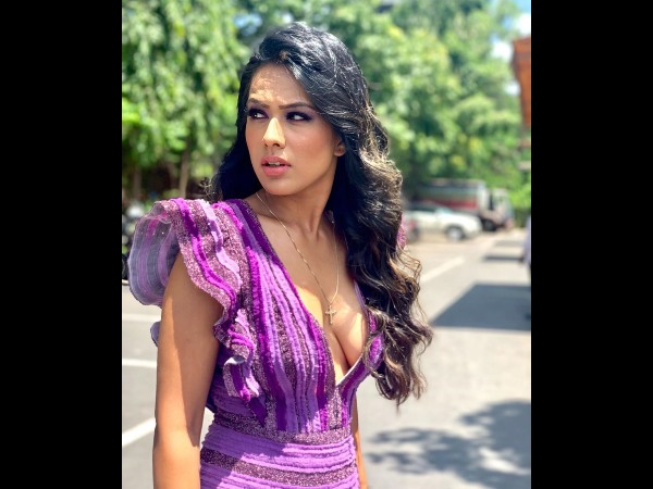 Nia Sharma In A Purple Dress
