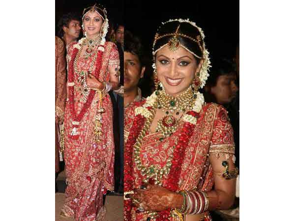 Shilpa Shetty Wedding Saree