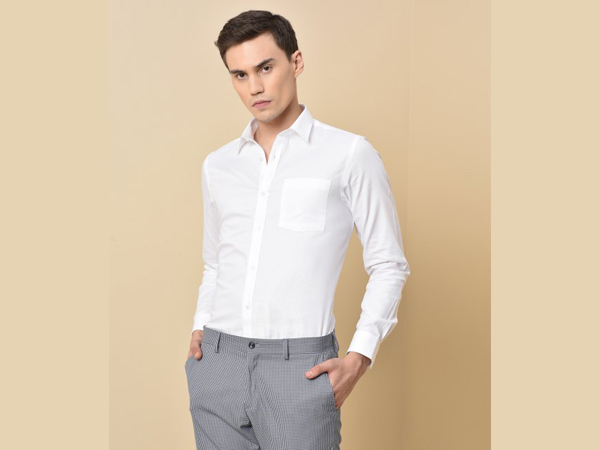 trouser combination with white shirt