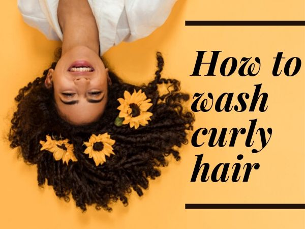 how to wash curly hair
