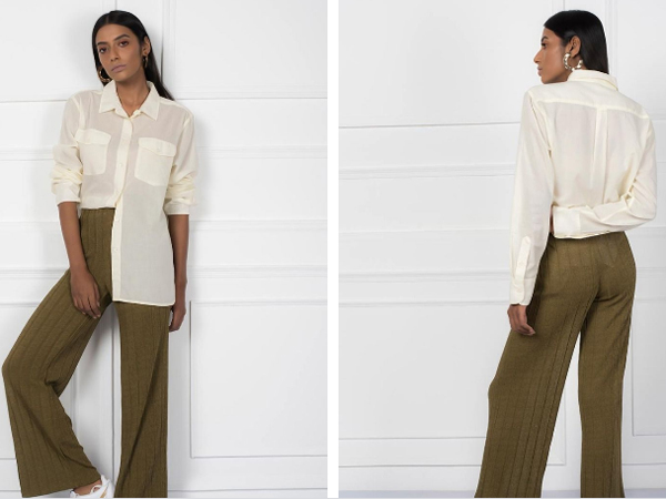 combination of white shirt and pant