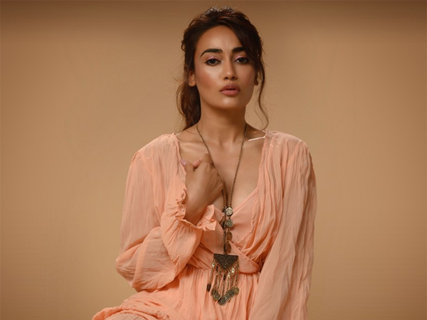 Qubool Hai Actress Surbhi Jyoti Wows In Peach Flared Ruffle Dress In Her Latest Photoshoot