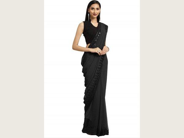 Black saree For School/College Farewell