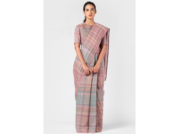 Linen Saree For School/College Farewell