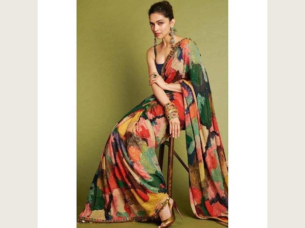 Multicoloured saree For School/College Farewell
