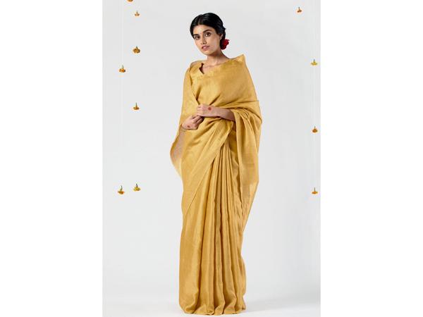 Jacquard saree For School/College Farewell