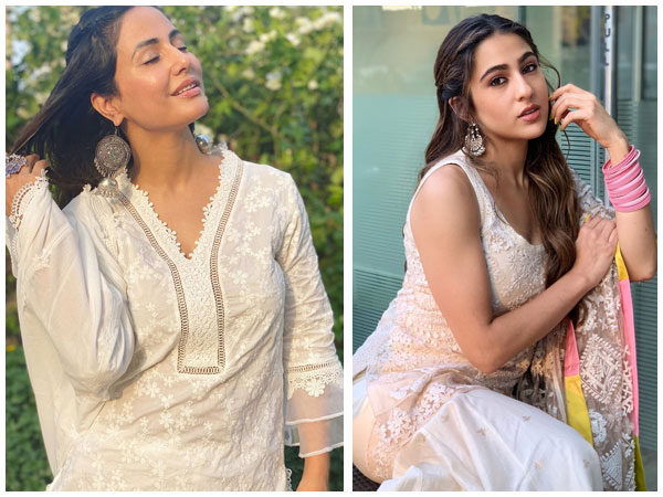 Eid-Ul-Fitr 2020: Hina Khan, Sara Ali Khan And Other B-Town Divas Give Ethnic Fashion Goals In White