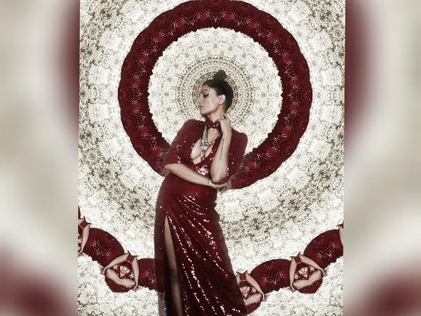 Sushmita Sen In A Maroon Slit Gown