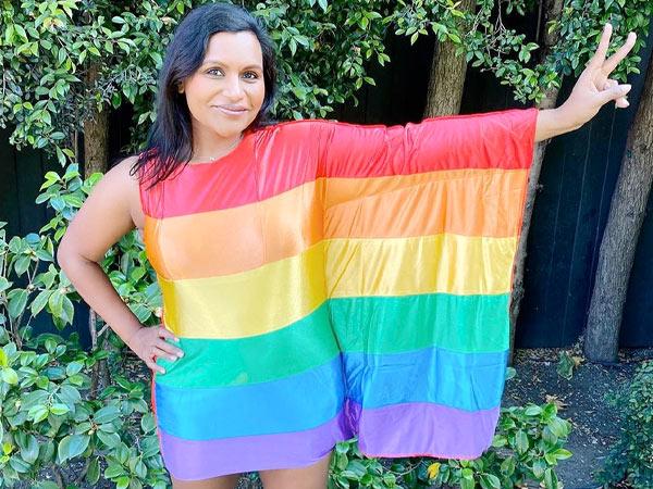 Mindy Kaling S Rainbow Dress On Instagram Boldsky Com