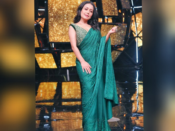Neha Kakkar In A Green Saree