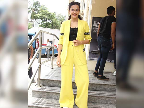 Taapsee Pannu In A Yellow Pantsuit
