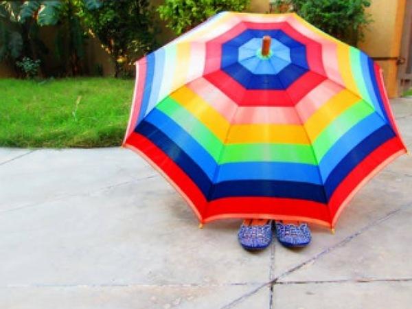 Multi-Coloured Umbrellas for Monsoon