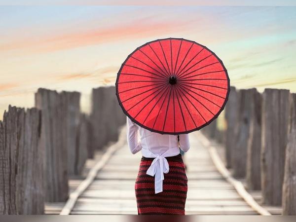 Striped Umbrellas For Monsoon