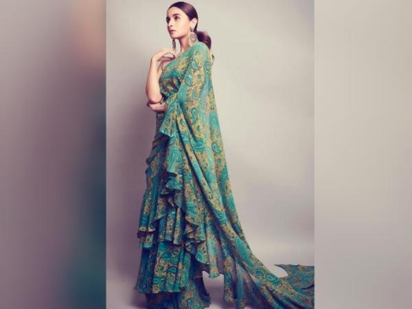 Alia Bhatts Ruffle Saree