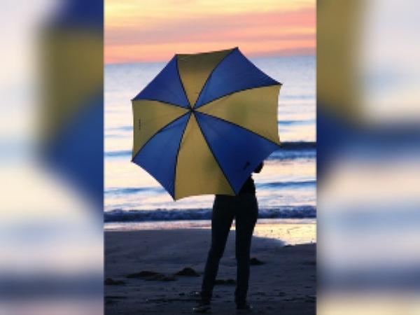 Dual-Toned Umbrellas For Monsoon