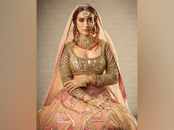 Surbhi Jyoti In A Peach Bridal Lehenga