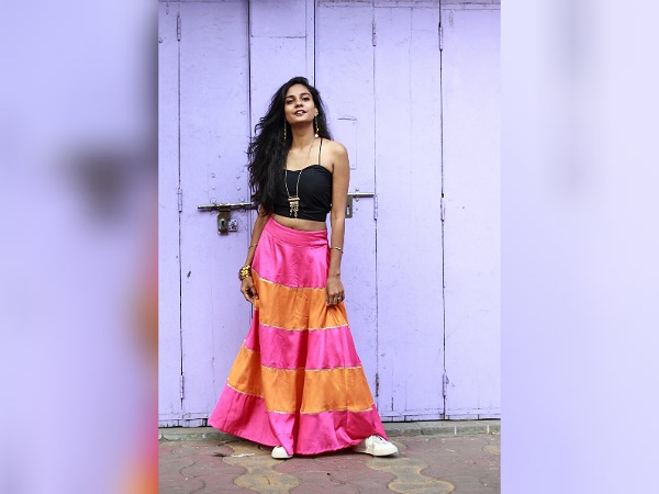 Traditional Dresses Of Women In India- Crop Top and Skirt