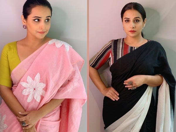 Vidya Balan In Sarees For E-Promotions