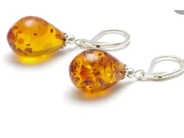 Sun stone earrings for long hair