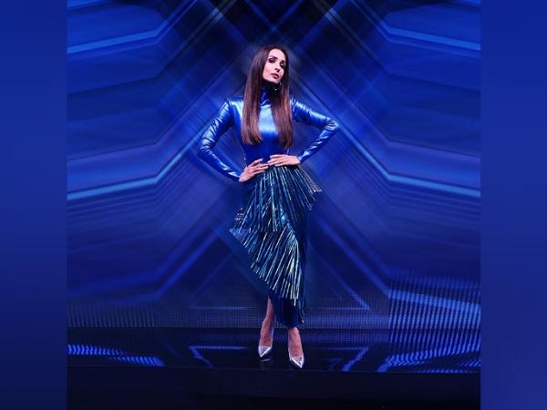 Malaika Arora In A Blue Metallic Dress