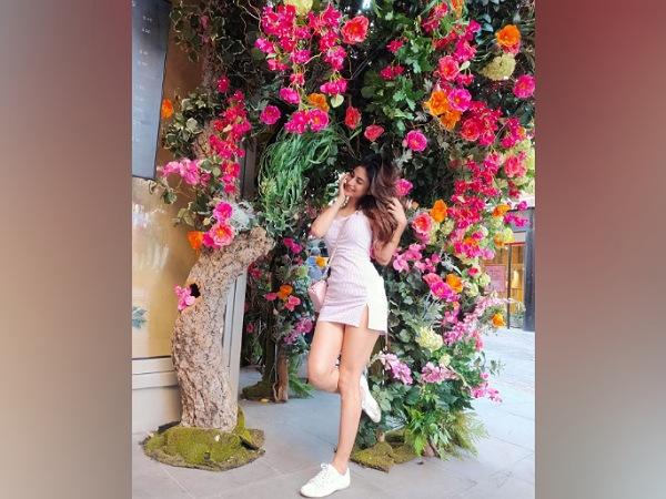 Mouni Roy In A Pink Dress