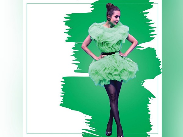 Malaika Arora In A Green Dramatic Dress