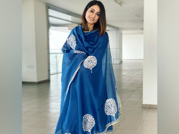 Hina Khan In A Pretty Blue Ethnic Suit