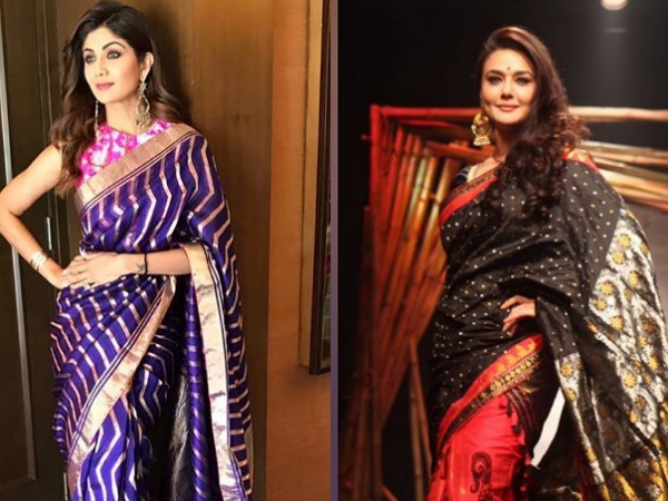 Preity Zinta Or Shilpa Shetty, Whose Beautiful Handloom Saree Will You Pick For Upcoming Wedding?