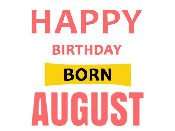 people born on august 1