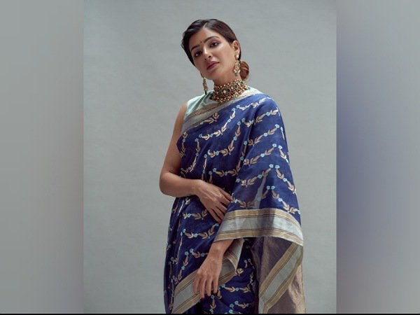Samantha Akkineni Opts For A Gorgeous Blue Saree For Rana Daggubati's Wedding