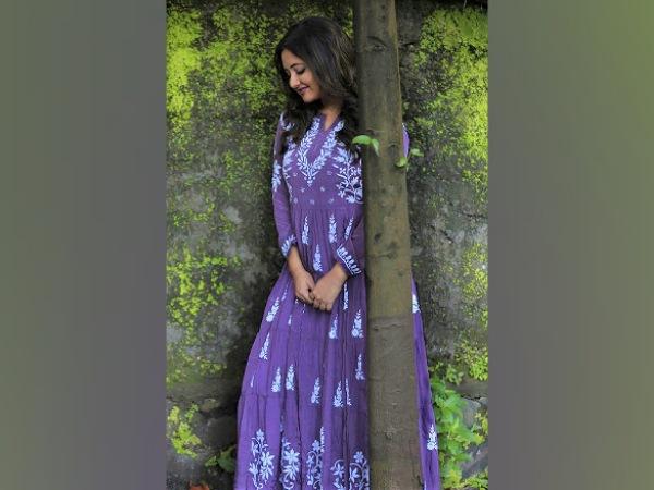 Rashami Desai In A Purple Kurti