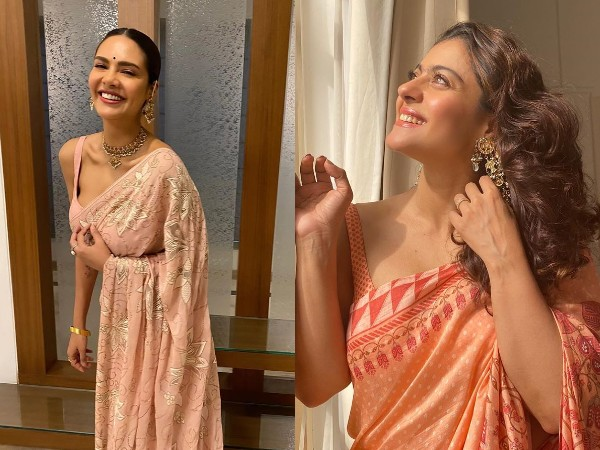 Kajol And Esha Gupta's Floral Sarees Are Gorgeous And Ideal For All Occasions