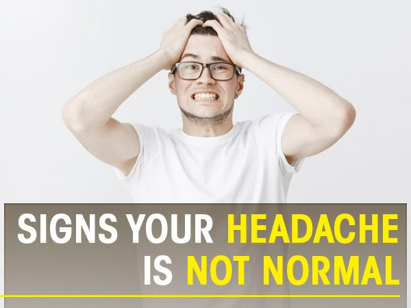 If You Have These Symptoms, Your Headache Is Not NORMAL!