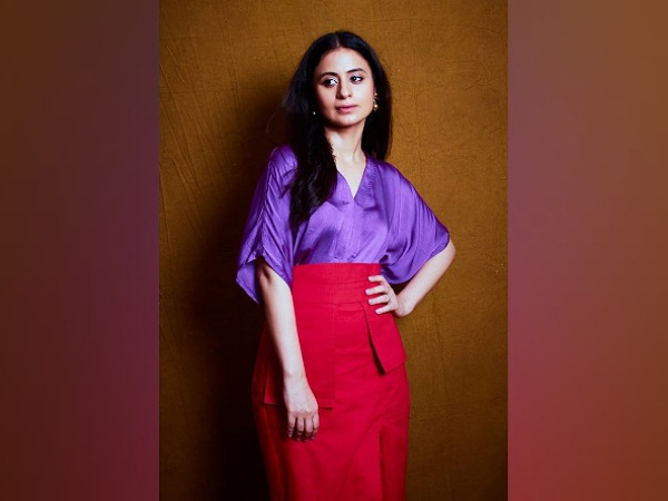 Rasika Dugal In Purple Top And Red Skirt